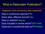 what is redundant publication