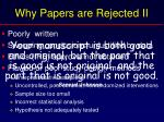 why papers are rejected ii