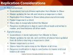 replication considerations26