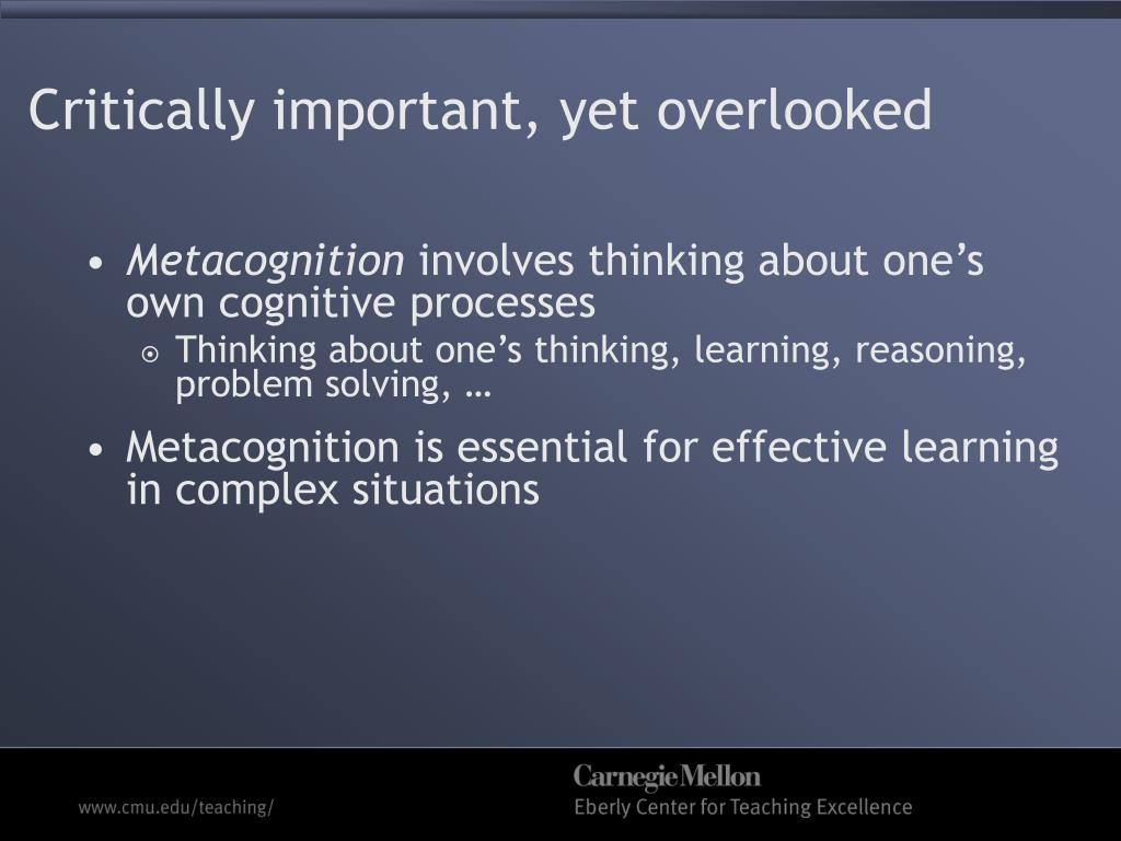 do you think metacognition is important