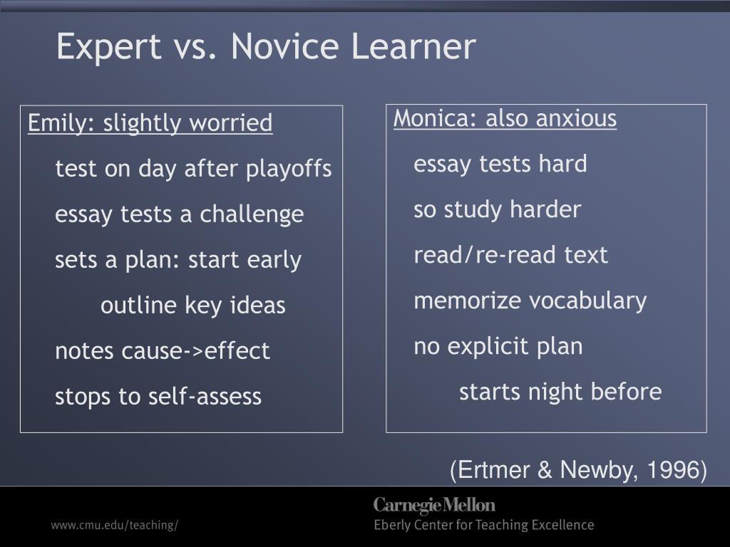 Expert vs. Novice Learner