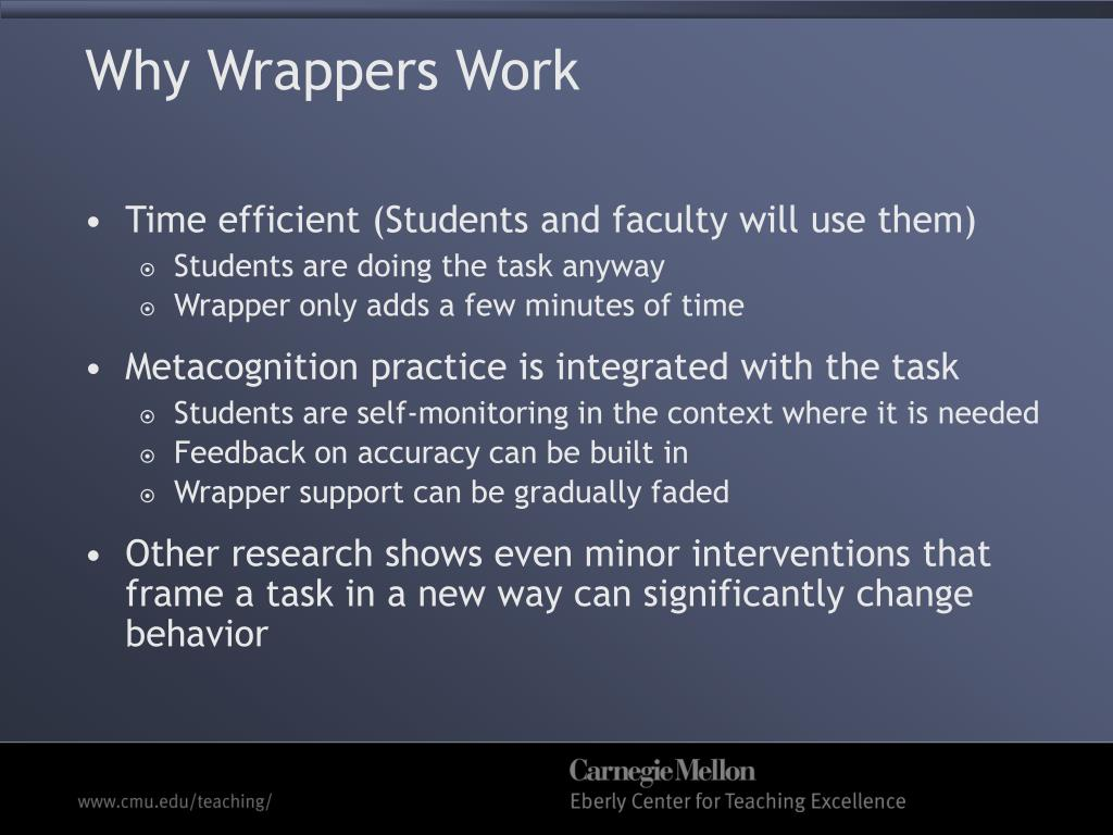 Why Wrappers Work