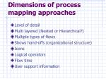 dimensions of process mapping approaches