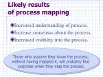 likely results of process mapping