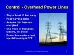 control overhead power lines