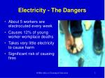 electricity the dangers