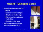 hazard damaged cords
