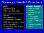 summary hazards protections