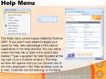 help menu