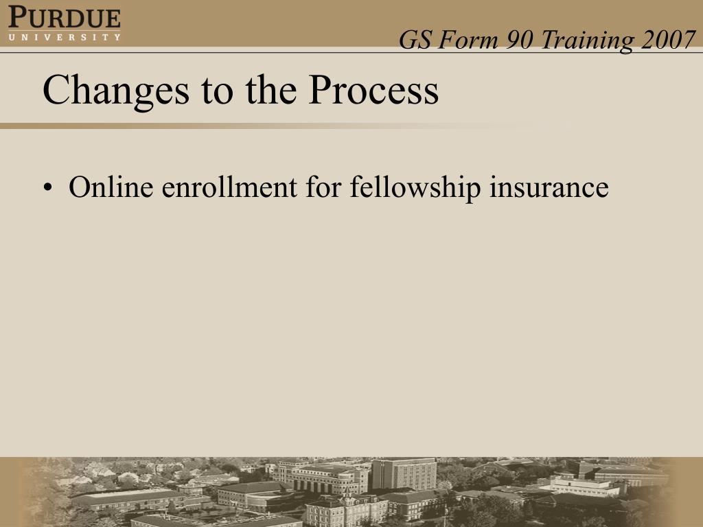 Online enrollment for fellowship insurance