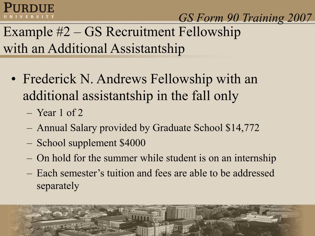 Frederick N. Andrews Fellowship with an additional assistantship in the fall only