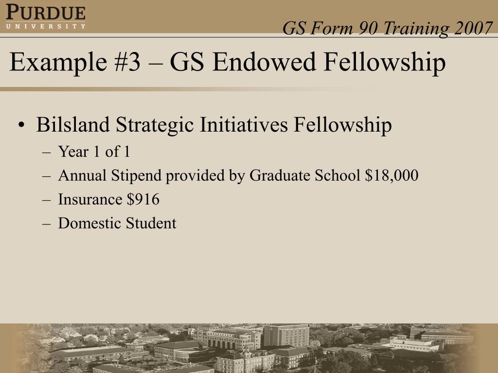 Bilsland Strategic Initiatives Fellowship