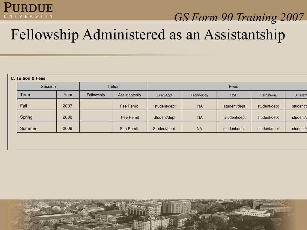 Fellowship Administered as an Assistantship