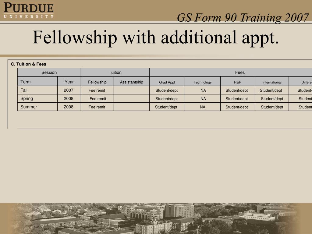 Fellowship with additional appt.