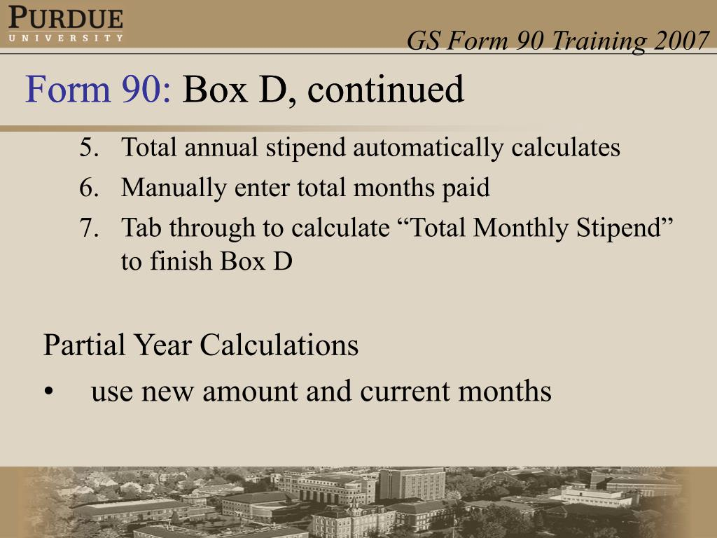 Total annual stipend automatically calculates