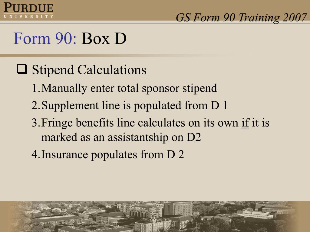 Stipend Calculations