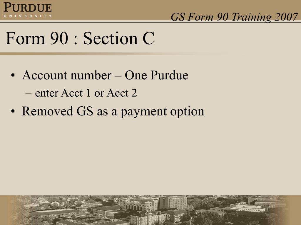 Account number – One Purdue