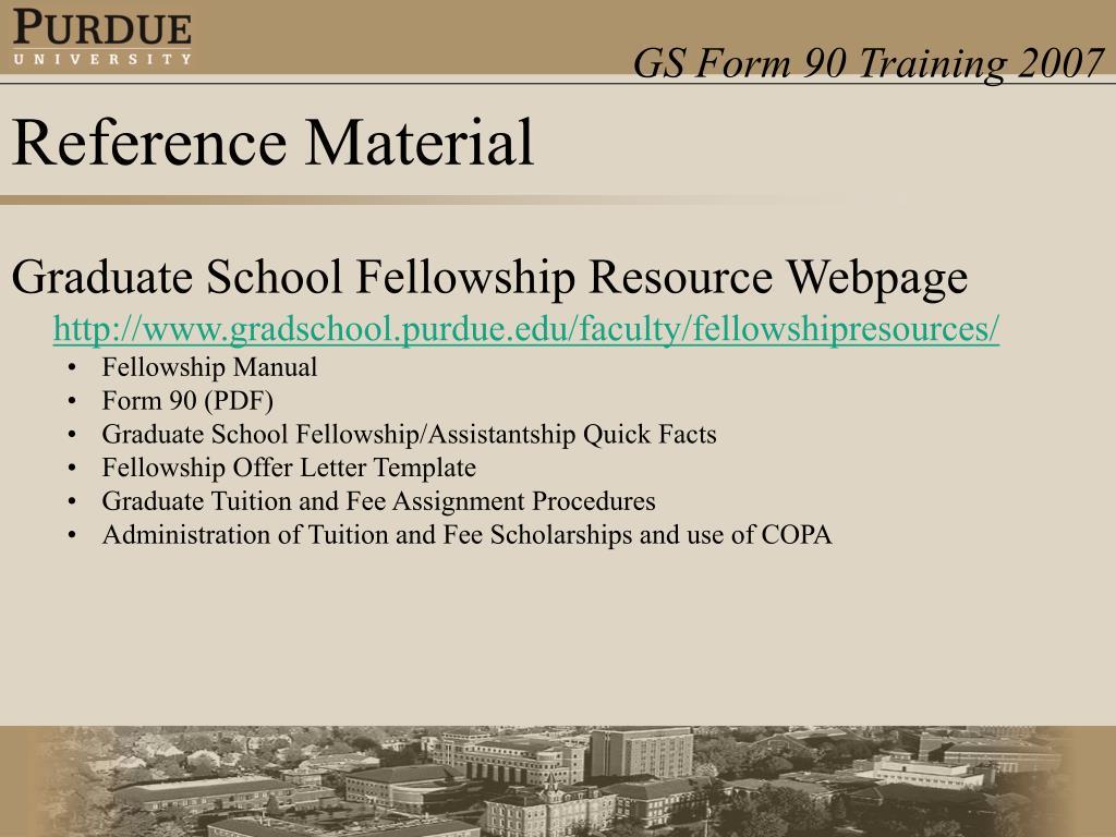 Graduate School Fellowship Resource Webpage