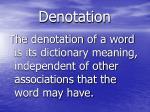denotation