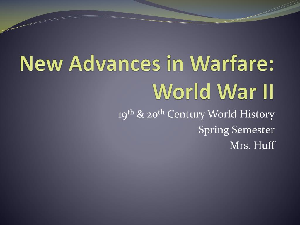 the technological advancement of the weaponry between the two world wars