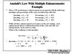 amdahl s law with multiple enhancements example
