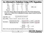 an alternative solution using cpu equation