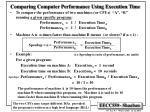 comparing computer performance using execution time