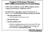 computer performance measures mips million instructions per second rating25
