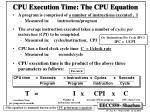 cpu execution time the cpu equation