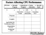 factors affecting cpu performance