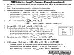 mips the isa loop performance example continued