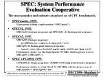 spec system performance evaluation cooperative