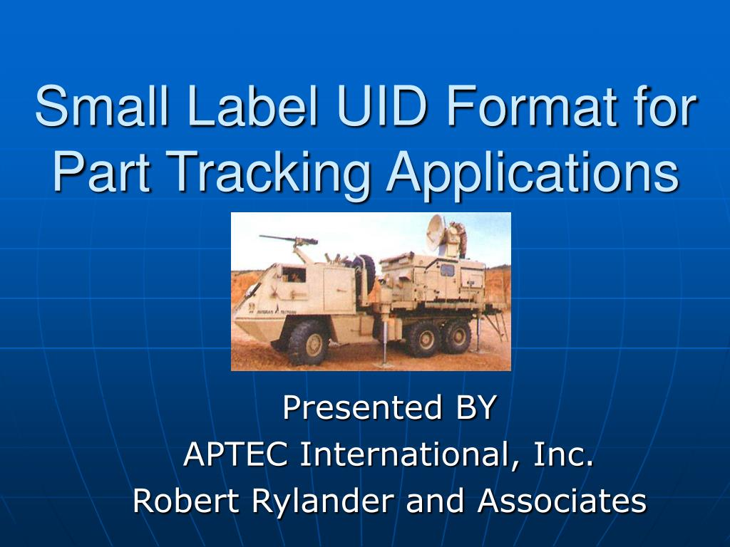 small label uid format for part tracking applications l.