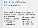 principles of effective documentation