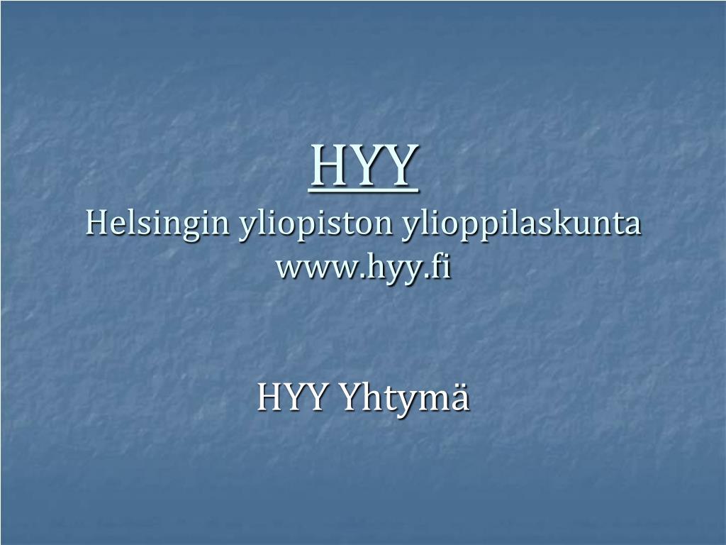 hyy helsingin yliopiston ylioppilaskunta www hyy fi l.