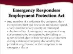 emergency responders employment protection act