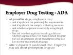 employer drug testing ada96