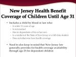new jersey health benefit coverage of children until age 31