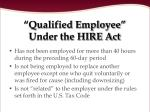 qualified employee under the hire act