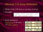 alternate 2 d array definition