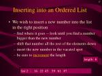 inserting into an ordered list17