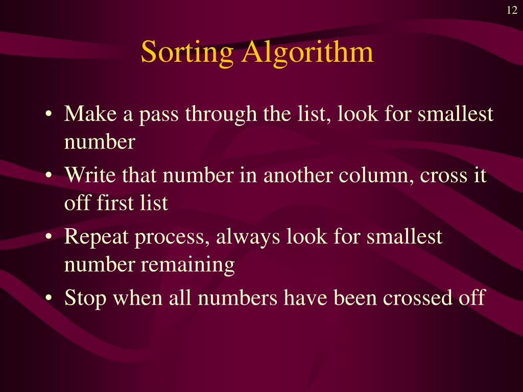 Sorting Algorithm