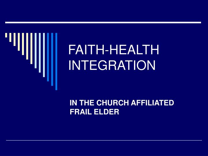 faith health integration n.