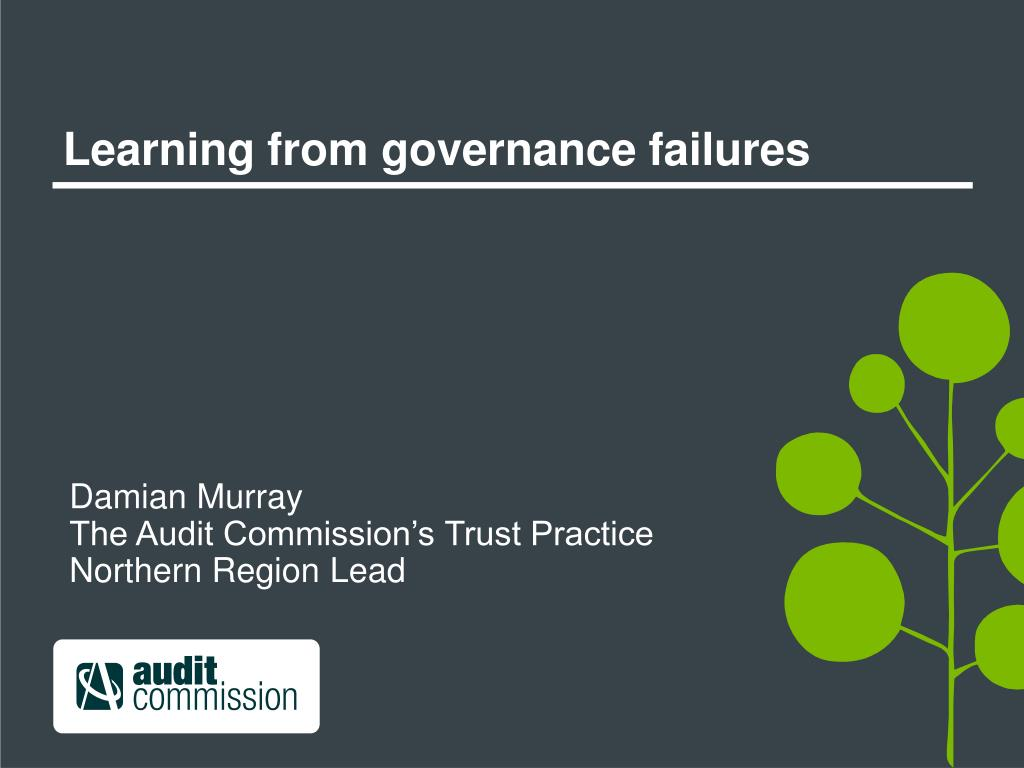 Learning from governance failures