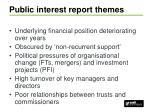 public interest report themes