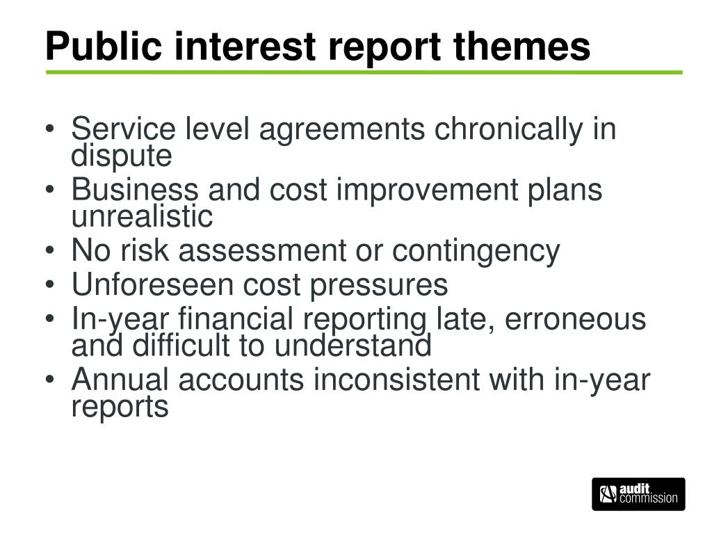 Public interest report themes
