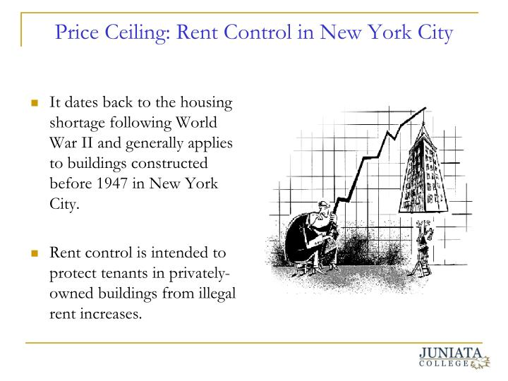 Ppt government price control policies and economic for Rent new york city