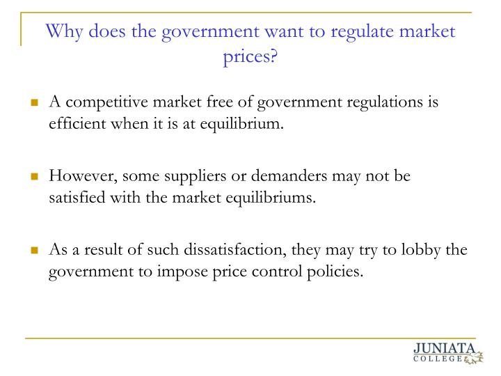 Ppt Government Price Control Policies And Economic