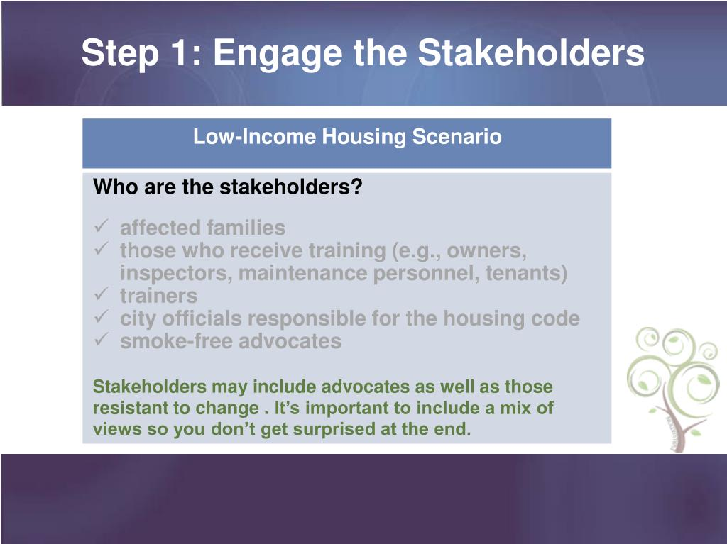 Step 1: Engage the Stakeholders