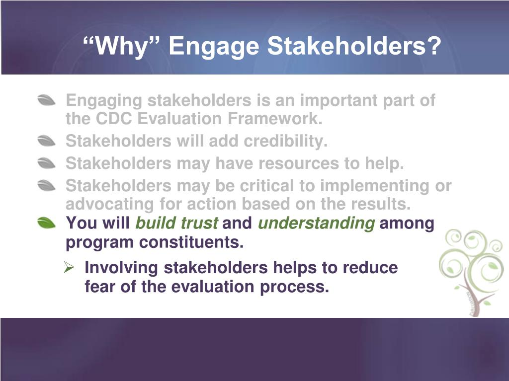 """Why"" Engage Stakeholders?"